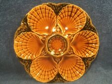Oyster Plate Antique French Majolica Oyster Plate Shells and Seaweed