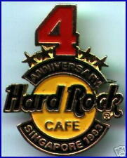 Hard Rock Cafe SINGAPORE 1993 4th Anniversary PIN Staff Exclusive - HRC #8836