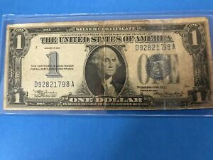 1934 $1 FUNNY BACK Silver Certificate  C/S