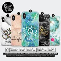 Personalised Yoga Namaste Lotus Marble Custom Name Phone Case Cover iPhone L35