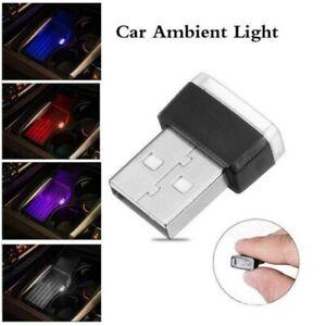 Mini LED Car Light Auto Interior USB Atmosphere Light Plug And Play Decor Lamp O