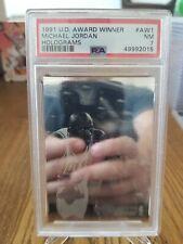 1991-92 Upper Deck Award Winner Michael Jordan Hologram PSA 7 NM Holo Near Mint