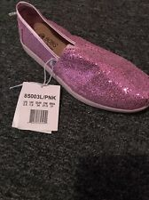Lil Bobs Skechers Pink Sparkle Shoes Toddler Girls Size 2.5