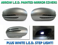 USA 01-07 W203 C Class Arrow LED Side Painted Silver Mirror Cover+LED Step Light