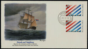 Netherlands 640-1 on Ship cachet FDC - US-Netherlands Diplomatic Relations