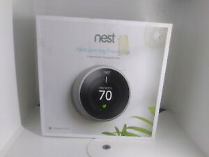 Nest Learning Thermostat 3rd Gen  - Stainless Smart Home T3007ES Silver