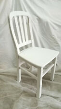 Pair Of Chairs Wood Solid. Colour White. Model Porto