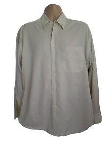 Christian Dior Mens Large Stunning Vintage Off White Houndstooth Shirt