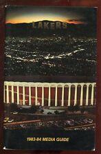 1983/1984 NBA Basketball Los Angles Lakers Media Guide EXMT