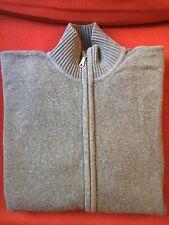 Saks Fifth Avenue Full zip sweater grey Large