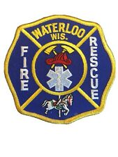 Waterloo fire department rescue patch