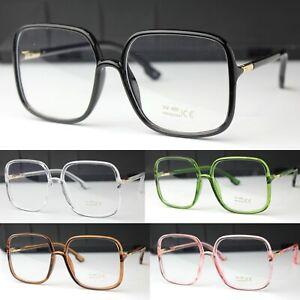 Large Clear Lens Glasses Square Fashion Glasses Women's Men's UV400