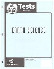 BJU Press Earth Science Tests Answer Key - 271536