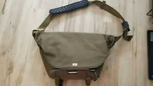 Merrell Crossbody Travel Laptop Messenger Large Bag  Green/Brown