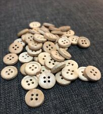 20 X 13mm  Off White Wooden Buttons - Australian Supplier