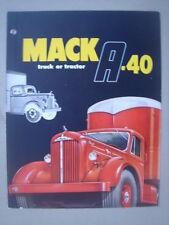 MACK  Model A - 40  truck or tractor   brochure/Prospekt   1950.