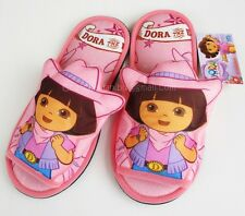 Dora the Explorer Women Men Adult Plush In Door Sz 6-10 Slippers Toy Soft NWT NW