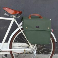 Tourbon Waxed Canvas Bike Bicycle Double Pannier Back Seat Bag Pouch Rack Holder