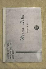 Wyvern Lathe Model 4 WT Parts List