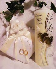 Hochzeitskerze 250/70 mm & Ringkissen Set H001