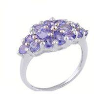 Natural Tanzanite 925 Sterling Silver Gemstone Ring size O