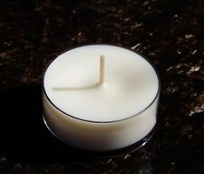 15hr GREEN TEA & PEPPERMINT Scented HUGE MAXI ORGANIC WHITE SOY TEA LIGHT CANDLE