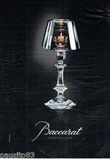PUBLICITE ADVERTISING 115  2007  CRISTAL BACCARAT par PH STARCK collection LUMIE
