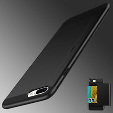 For iPhone X 8 7 6s Plus Shockproof Hybrid Rubber Card Holder Armor Case Cover