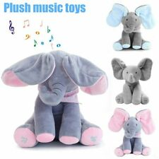 Baby Peekaboo Talking Elephant Doll Soft PP cotton Singing Stuffed animals Plush