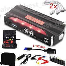 Portable 80000mAh 4USB Car Jump Starter  12V Battery Charger Power Bank