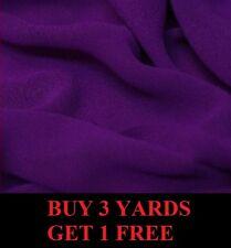 Premium Plain Cadbury Purple Chiffon Georgette Dress-Making Fabric Material