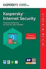 2 Minutes processing Kaspersky Internet Security 3 Devices 1 year 2018