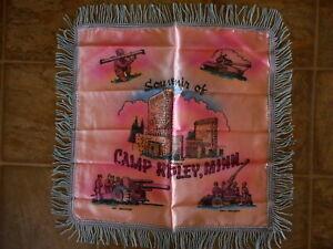 Camp Ripley MN Minnesota Military Vintage Pillow Souvenir Howitzer Tank