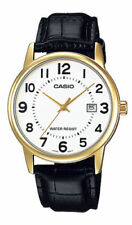 NEW Casio MTP-V002GL-7B Men's Analog Watch BLACK Leather Date BOLD EASY-READER