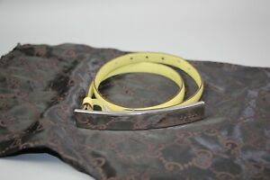 Authentic Gucci Limited Edition Leather Lime skinny Belt