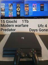 Playstation 4 PS4 PRO 1TB +14 GIOCHI MODERN WARFARE UFC4  NO LETTORE💥GARANZIA💥