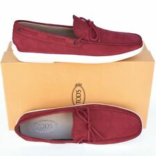 5bd837e368 TOD'S Tods New sz UK 10 - US 11 Authentic Designer Mens Loafers Shoes red