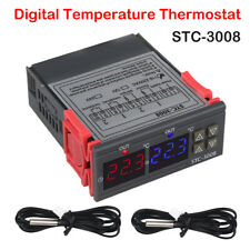 Neu STC-3008 Digitale Temperature regler NTC Fühler Sensor Heat Cool -55°C~120°C