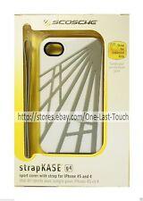 SCOSCHE Phone Case STRAPKASE Sport Cover w/Strap FOR iPHONE 4/4S White+Gray NEW!