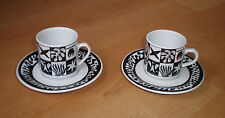 Moreno porcelain - two mocha / espresso cups with two saucers