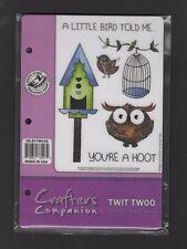 Crafters Companion - Spectrum Noir Sparkle 'TWIT TWOO' (A6 Stamp Set)