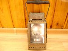 VTG POST WWII GERMAN HEINRICH GILLET BRASS CARBIDE RAILROAD LANTERN SIGNAL LAMP
