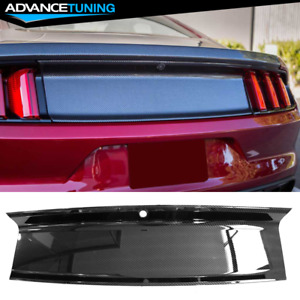 Fit 15-18 Ford Mustang Trunk Decklid Cover Panel Carban Fiber Print ABS Plastic