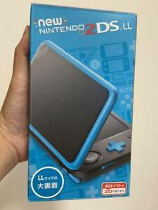 Nintendo New 2DS LL XL Black Turquoise Console with charger Tested Boxed