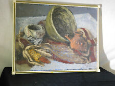 Michael J.Praed Listed Artist Original Abstract Still Life Painting