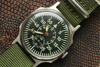 Poljot Aviator Pobeda Watch Pilot Shturmanskie LACO Green Mechanical Military