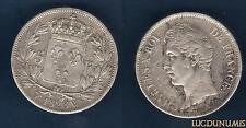 Charles X , 1824 - 1830 - 2nd Type d'effigie - 5 Francs 1828 W Lille TB