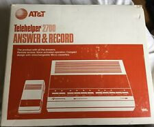 AT&T Telehelper 2700 Answering & Recording Machine Microcassette Tapes w/ Remote