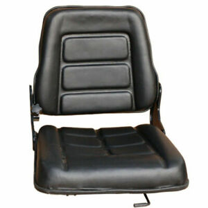 PU Leather Tractor Seat Excavator Forklift Truck Digger Universal Chair Adj. AU