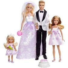 Barbie Wedding Gift Set Bridesmaids Dolls Ken Stacie Chelsea